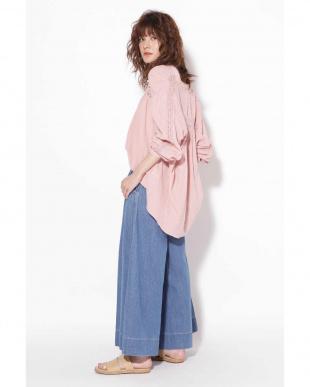 ピンク カギ針レースシャツ R/B(オリジナル)を見る