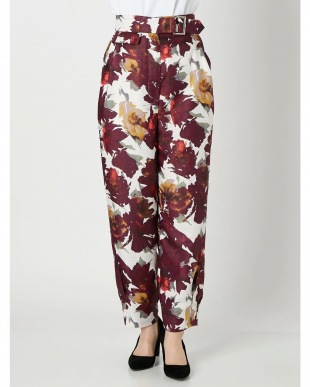 パープル ELIN/Floral turn-up pants ELENDEEKを見る
