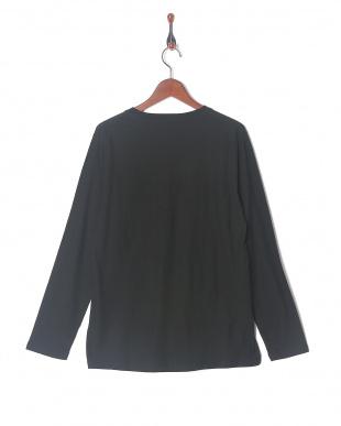 ブラック スラブポケットクルーTシャツ LSを見る