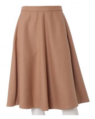ワイン5 《大きいサイズ》ビーズアクセント表起毛スカート ef-de L Sizeを見る