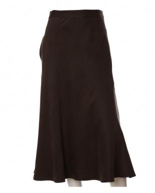 ダークブラウン4 《大きいサイズ》フェイクスエードAラインスカート INED L sizeを見る