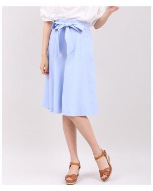 ピンク1 リボンベルト付きシンプルニュアンスフレアスカート CLEAR IMPRESSIONを見る