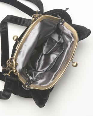 BLACK  アニマルモチーフ刺繍がま口ミニトートを見る