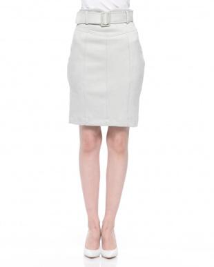 ライトグレー スウェードタイトスカートを見る