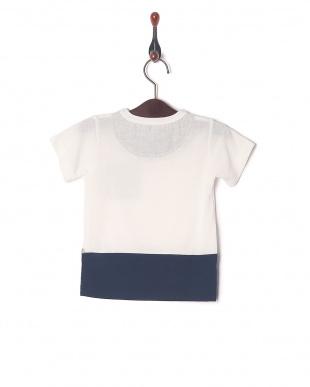 オフホワイト 配色切り替えTシャツを見る