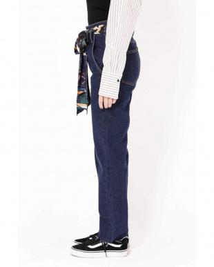 ネイビー1 スカーフ付きデニムパンツ R/B(オリジナル)を見る