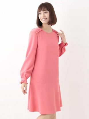 ピンク フリルデザインドレス IMPORTED TARA JARMONを見る