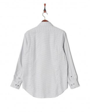 グレー ミニ千鳥格子柄 ワイドカラー 長袖シャツを見る