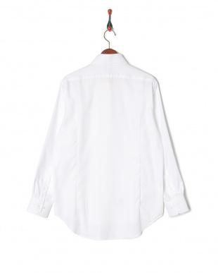 ホワイト ヘリンボーン スナップダウン 長袖シャツを見る