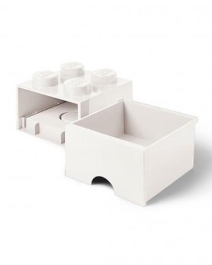 ホワイト レゴブリックドロワー4 レゴ収納ボックス 引き出しタイプを見る