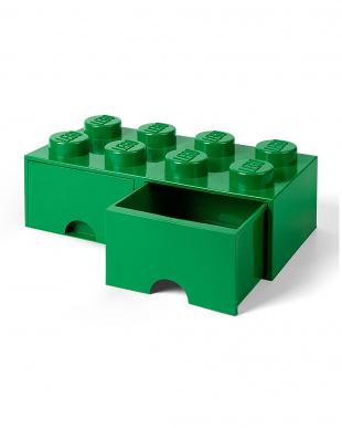 ダークグリーン レゴブリックドロワー8 レゴ収納ボックス 引き出しタイプを見る