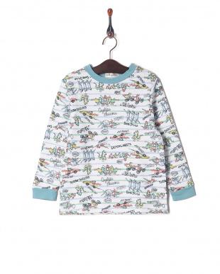 ブルーグレー キルトパジャマを見る