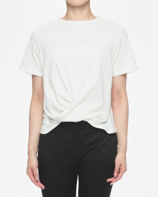 オフ白 前クロスTシャツを見る