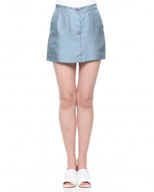 ブルー LE PRESTIC OUSTIN シルクミニスカートを見る
