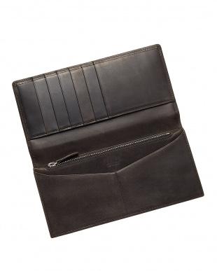 ブラック 長財布・フラップ カバロ 馬革を見る