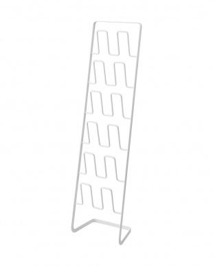 ホワイト スリッパラック フレーム 6足用 スリムを見る