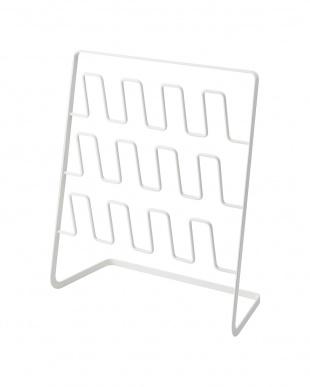 ホワイト スリッパラック フレーム 6足用 ワイドを見る