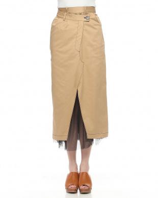 CAMEL チュールレイヤードチノスカートを見る