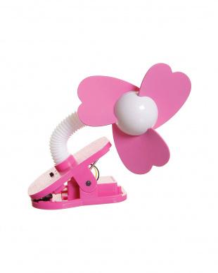 ホワイト×ピンク ホワイト×ピンク ベビーカー扇風機 クリップオン ファンを見る