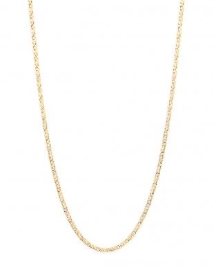 イエローゴールド/ホワイトゴールド K18YG K18WG デザインチェーン ネックレスを見る