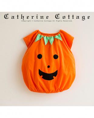 オレンジ  ハロウィンかぼちゃスモックを見る