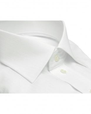 ホワイト系 形態安定 ノーアイロン 長袖ワイシャツ ワイド ホワイトを見る