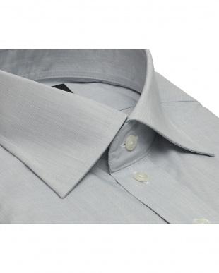 グレー系 形態安定 ノーアイロン 長袖ワイシャツ ワイド ライトグレーを見る