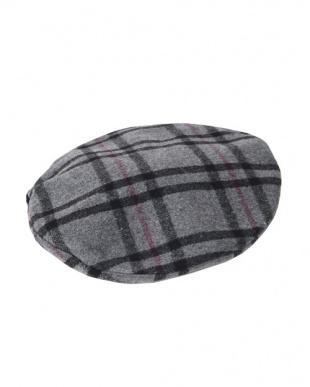 グレー チェックベレー帽を見る