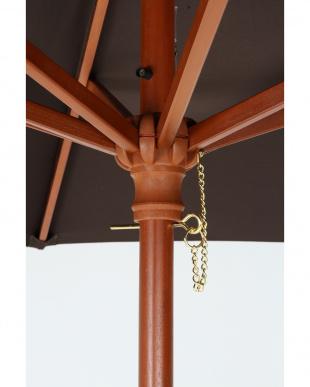 ブラウン 木製パラソル(270cm)を見る