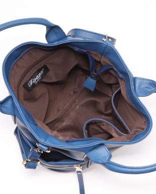 BLUE 2WAYエレガントファスナーポケットショルダーハンドバッグを見る