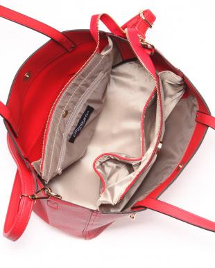 RED 2WAYフロントファスナーデザインショルダトートバッグを見る