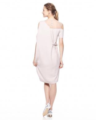 ライトピンク レイヤードドレープドレスを見る