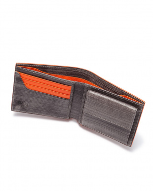 Gray x Orange 二つ折り財布を見る
