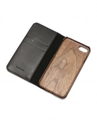 ブラック PEBBLY(ぺブリー)ブラック iPhone8/7/6s/6 兼用イタリアレザー 木製ケースを見る