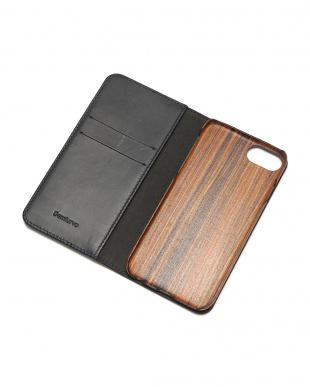 ネイビー PEBBLY(ぺブリー)ネイビー iPhone8/7/6s/6 兼用イタリアレザー 木製ケースを見る