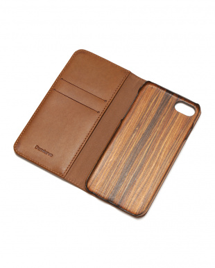 ブラウン PEBBLY(ぺブリー)ブラウン iPhone8/7/6s/6 兼用イタリアレザー 木製ケースを見る
