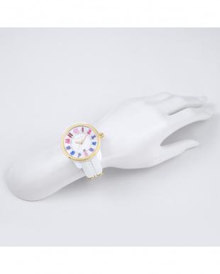 ホワイト GULLIVER RAINBOW 腕時計を見る