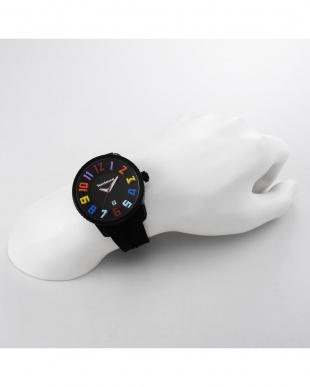 ブラック GULLIVER ROUND RAINBOW 腕時計を見る