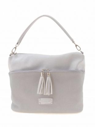 ライトブルー デザインポケットフェイクレザートート MK MICHEL KLEIN BAGを見る