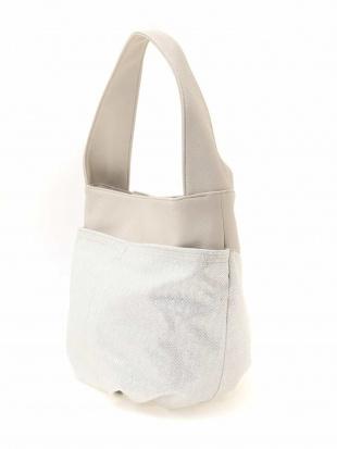 ホワイト ラメ加工フェイクレザーバッグ MK MICHEL KLEIN BAGを見る