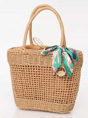 ベージュ 【WEB限定】スカーフ付きかごバッグ MK MICHEL KLEIN BAGを見る