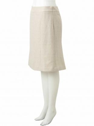 ホワイト 【大きいサイズ】ラメファンシーツイードスカート eur3を見る