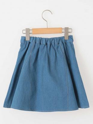 ネイビー [100-130]インナーパンツ付きデニムスカート[WEB限定サイズ] a.v.v bout de chouを見る