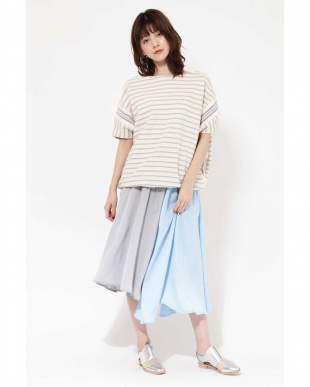 GREY PANEL COLOR SKIRT R/B(バイイング)を見る
