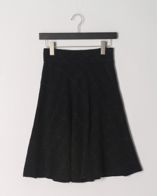 ネイビー クレストブリッジチェックファンシーツイードスカートを見る