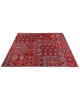 レッド ゴブラン織カーペット キルマ 200×200cmを見る