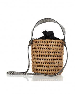 パイソン メッシュ編みバケツトートバッグを見る