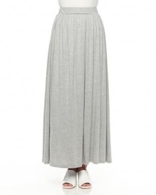 グレー OU/COOL TOUCH カットマキシスカートを見る