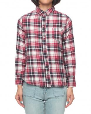 レッド×ブラック OU/ビエラ起毛チェック2wayシャツを見る