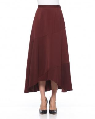 BROWN ヘムフレアマキシスカートを見る